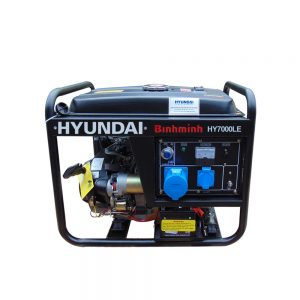 Máy Phát điện 5.0 KW – 5.5KW Chạy Xăng Hyundai HY7500LE Máy Trần, đề Nổ