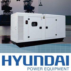 Máy Phát điện 12kva Diesel Hyundai  3 Pha Với Vỏ Chống ồn đồng Bộ