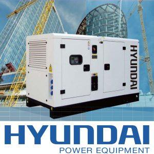 Máy Phát điện 25KW – 27KW Diesel Hyundai – 1 Pha Với Vỏ Chống ồn đồng Bộ