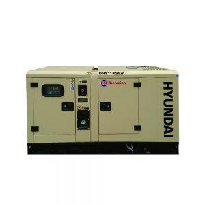 Máy Phát điện 10KW – 11KW Diesel Hyundai – 1 Pha Với Vỏ Chống ồn đồng Bộ