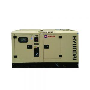 Máy Phát điện 16KVA – 17KVA Diesel Hyundai  3 Pha Với Vỏ Chống ồn đồng Bộ