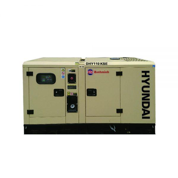 Máy phát điện chạy dầu hyundai DHY110KSE có công suất 100kva - 110kva