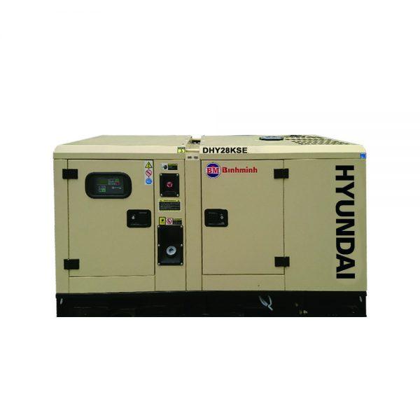 Máy phát điện 25kva Hyundai DHY28KSE 3 pha, chạy dầu diesel