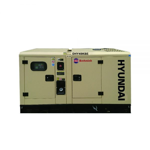 Máy phát điện 40kva Hyundai DHY45KSE chạy dầu diesel