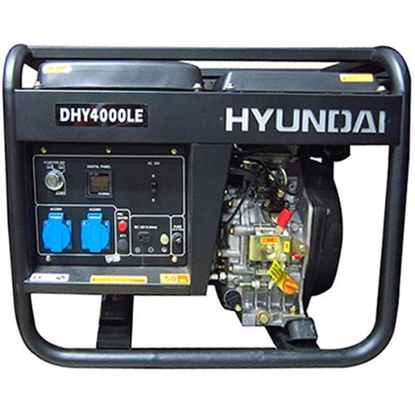 máy phát điện chạy dầu diesel 3kw -3.3kw Hyundai DHY4000LE