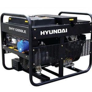 Máy Phát điện 9.0KW – 10 KW Chạy Dầu Hyundai – Máy Trần, đề Nổ