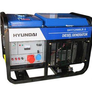 Máy Phát điện Diesel 12.5KVA – 13.5KVA Hyundai – 3 Pha , Máy Trần, đề Nổ