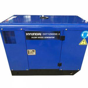 Máy Phát điện 12.5KVA-13.5KVA Diesel Hyundai DHY12500SE-3 Pha, Vỏ Chống ồn, đề Nổ