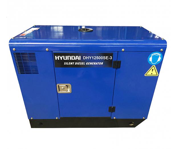 Máy Phát điện 12.5KVA – 13.5KVA Diesel Hyundai -3 Pha, Vỏ Chống ồn, đề Nổ