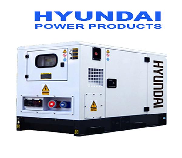 Máy Phát điện 25KVA -28KVA Diesel Hyundai  3 Pha Với Vỏ Chống ồn đồng Bộ