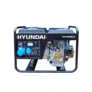 Máy Phát điện Chạy Dầu 5.0KW – 5.5KW Hyundai DHY6000LE – Máy Trần, đề Nổ