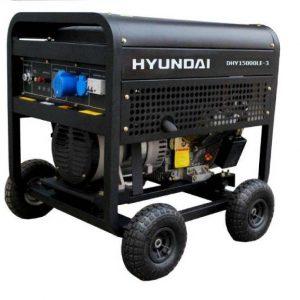 Máy Phát điện 12KW – 13KW Chạy Dầu Diesel Hyundai DHY15000LE – Máy Trần, đề Nổ