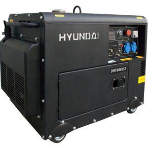 Máy Phát điện 6.2Kw – 6.9Kw Diesel Hyundai, Vỏ Chống ồn, đề Nổ