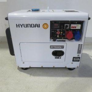 Máy Phát điện 6Kw – 6.9Kw Chạy Dầu Diesel Hyundai, Vỏ Chống ồn, đề Nổ