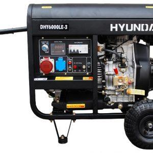 Máy Phát điện Chạy Dầu 6.3KVA – 7.3KVA Hyundai DHY6000LE-3