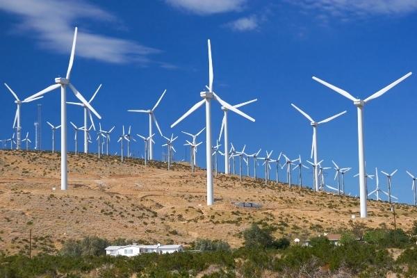 Hình ảnh cối xay tạo ra điện gió