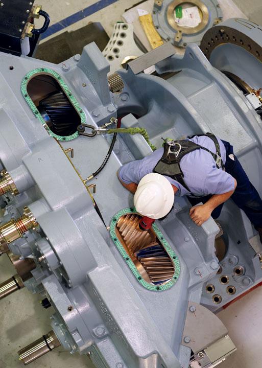 Tubin tạo ra điện từ gió lớn nhất thế giới