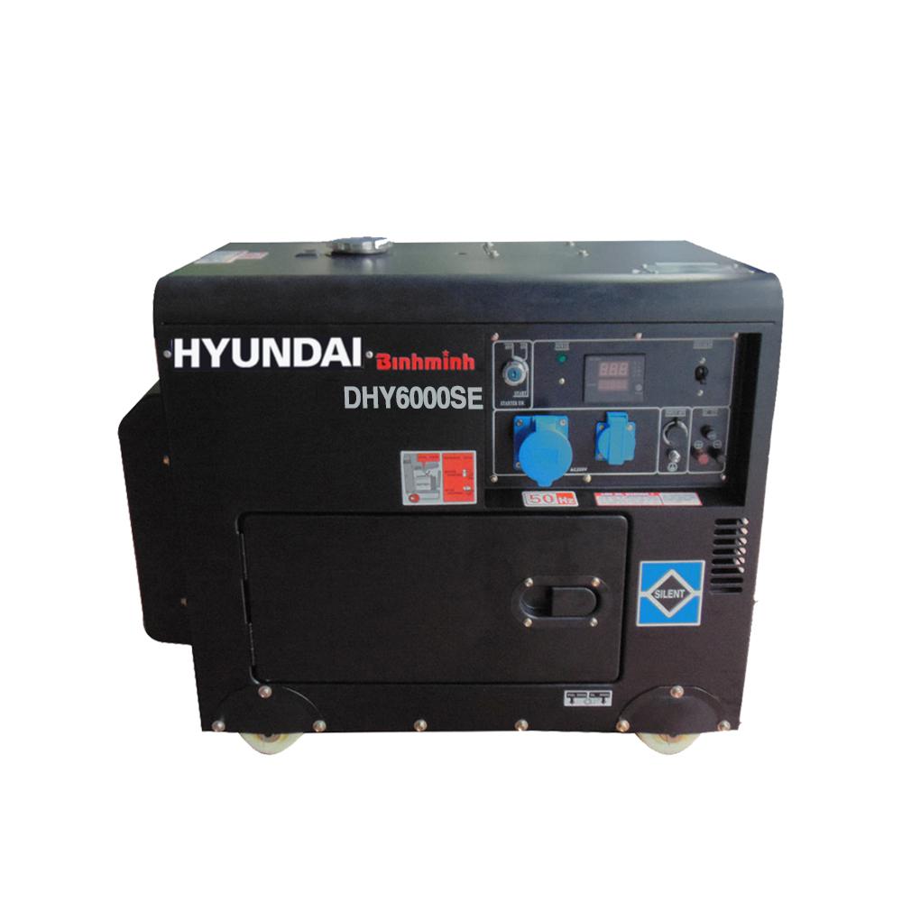máy phát điện 1 pha DHY6000SE 5kw chạy dầu diesel có vỏ chống ồn