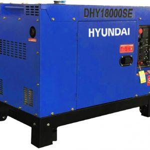 Máy Phát điện 12.5kva-13.75kva Hyundai DHY18000SE-3 Chạy Dầu Diesel 3 Pha, Có Vỏ Chống ồn đề Nổ