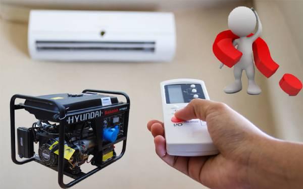 Máy phát điện chạy được điều hòa không?