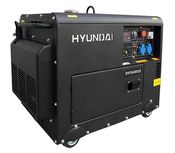 Máy phát điện chạy dầu diesel 5kw Hyundai DHY6000SE – có vỏ chống ồn, đề nổ