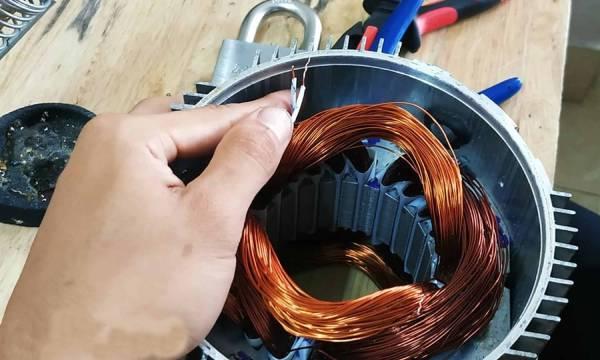 Cách quấn dây máy phát điện kiểu đồng tâm