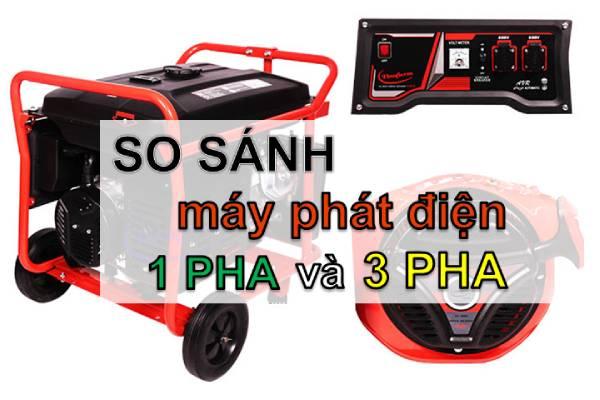 So sánh máy phát điện 1 pha và 3 pha để có sự lựa chọn tốt và phù hợp nhất